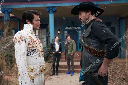Woody Harrelson as Tallahassee, Emma Stone as Wichita, Jesse Eisenberg as Columbus and Luke Wilson as Albuquerque