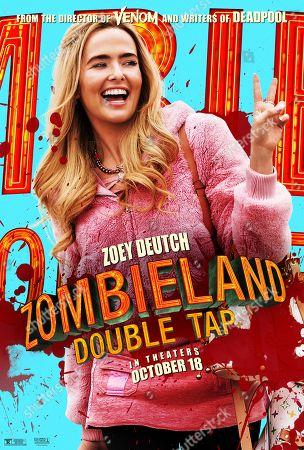 Zombieland: Double Tap (2019) Poster Art. Zoey Deutch as Madison