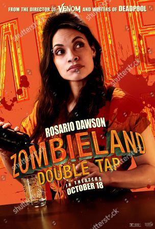 Zombieland: Double Tap (2019) Poster Art. Rosario Dawson as Nevada