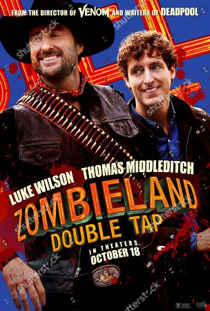 Zombieland: Double Tap (2019) Poster Art. Luke Wilson as Albuquerque and Thomas Middleditch as Flagstaff