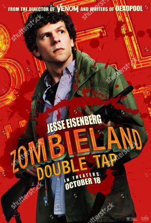 Zombieland: Double Tap (2019) Poster Art. Jesse Eisenberg as Columbus