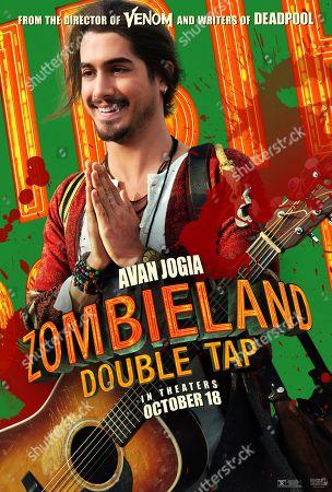Zombieland: Double Tap (2019) Poster Art. Avan Jogia as Berkeley