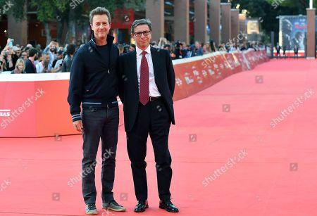 Edward Norton (L) and Rome Film Festival Artistic Director Antonio Monda (R) attend the 14th annual Rome Film Festival, in Rome, Italy, 18 October 2019. The film festival runs from 17 to 27 October 2019.