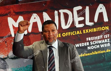 The grandson of Nelson Mandela, Nkosi Zwelivelile Mandela ('Chief Mandela') poses for pictures in the opening of the exhibition 'Mandela: The Official Exhibition' in Berlin, Germany, 18 October 2019. The global touring exhibition shows former South African president Nelson Mandela's life from his struggles as a freedom fighter to that of a political leader.
