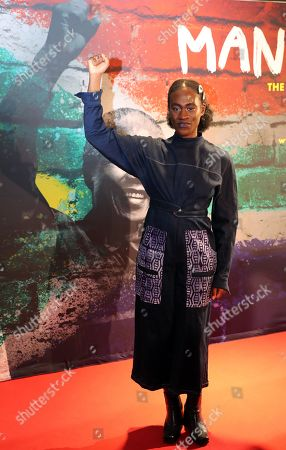 German singer Ivy Quainoo poses during a photocall of the exhibition 'Mandela -The Official Exhbition' in Berlin, Germany, 18 October 2019. The new global touring exhibition shows Mandela's life from his struggles as a freedom fighter to becoming a political leader.