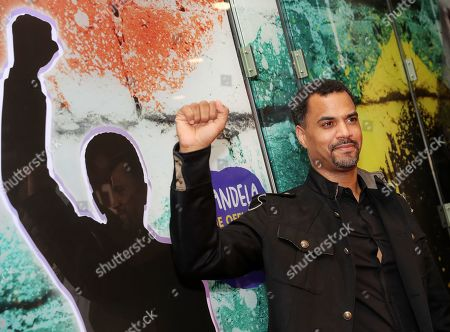 German presenter Patrice Bouedibela poses during a photocall of the exhibition 'Mandela -The Official Exhbition' in Berlin, Germany, 18 October 2019. The new global touring exhibition shows Mandela's life from his struggles as a freedom fighter to becoming a political leader.