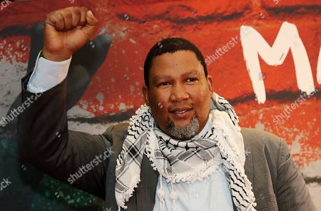 The grandson of Nelson Mandela, Nkosi Zwelivelile Mandela ('Chief Mandela') poses during a photocall of the exhibition 'Mandela -The Official Exhbition' in Berlin, Germany, 18 October 2019. The new global touring exhibition shows Mandela's life from his struggles as a freedom fighter to becoming a political leader.
