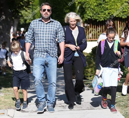 Ben Affleck, Samuel Affleck, Seraphina Affleck and Christine Anne Boldt