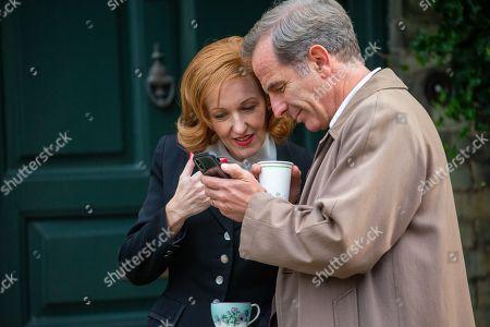 Editorial photo of 'Granchester' TV show on set filming, Cambridge, Cambridgeshire, UK - 16 Oct 2019