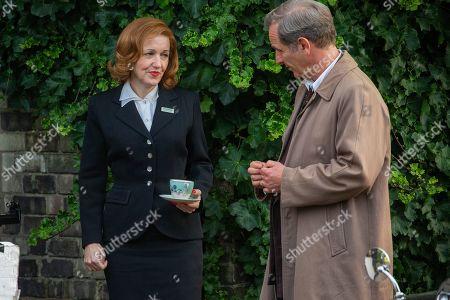 Editorial image of 'Granchester' TV show on set filming, Cambridge, Cambridgeshire, UK - 16 Oct 2019