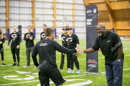 Members of Marriott Bonvoy bid their points to participate in the exclusive moments masterclass led by NFL Hall of Fame running back Emmitt Smith on at Halas Hall in Lake Forest, Ill