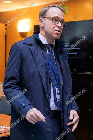 Jens Weidmann, president of Germany's Deutsche Bundesbank, leaves a G20 Finance Ministers and Central Bank Governors Meeting during the IMF World Bank Annual Meetings in Washington, DC, USA, 18 October 2019. The meetings continue through 19 October 2019.
