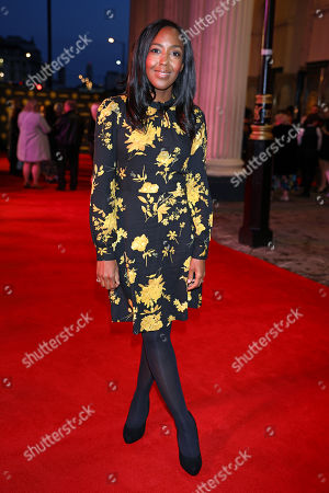 Angellica Bell arrives at the 20th anniversary gala performance for Disney's The Lion King at the Lyceum Theatre in London.