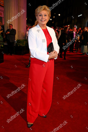 Angela Rippon arrives at the 20th anniversary gala performance for Disney's The Lion King at the Lyceum Theatre in London.