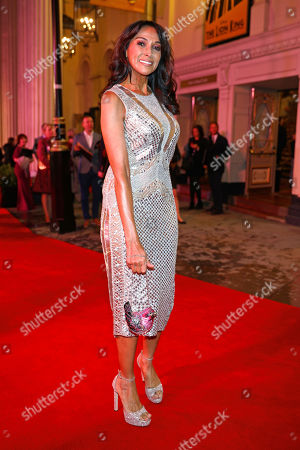 Jackie St Clair arrives at the 20th anniversary gala performance for Disney's The Lion King at the Lyceum Theatre in London.