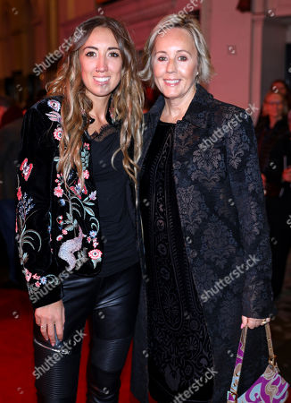 Harley Moon Kemp and Shirlie Holliman arrive at the 20th anniversary gala performance for Disney's The Lion King at the Lyceum Theatre in London.