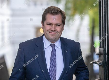 Robert Jenrick, Secretary of State for Housing, Communities and Local Government, arrives for the Cabinet meeting on the day before the big Brexit vote in Parliament.