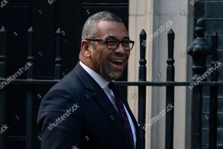 Chairman of the Conservative Party James Cleverly arrives for a cabinet meeting in Downing Street, Central London, Britain, 18 October 2019. The British Parliament will vote on 19 October on a Brexit deal between the European Union and British governments.