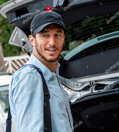 Stock Picture of Former Argentinean tennis player Juan Monaco arrives at his hotel in Mallorca, Balearic Islands, Spain, 18 October 2019 to attend Spanish tennis player Rafael Nada's wedding. Nadal will marry long-tim partner Maria Francisca Perello 'Xisca' on 19 October on a private ceremony held at the Pollenca Bay in Mallorca.