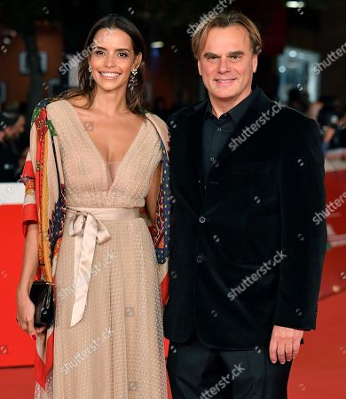 Andrea Griminelli (L) and his wife Rossana Redondo arrive for the screening of 'Pavarotti' at the 14th annual Rome Film Festival, in Rome, Italy, 18 October 2019. The film festival runs from 17 to 27 October 2019.