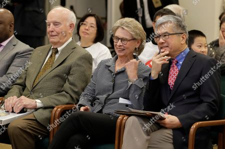 Stock Picture of Former Washington Governors (from left) Dan Evans, Chris Gregoire, and Gary Locke sit together before testifying in favor of Initiative 1000 before a joint Washington state House and Senate committee at the Capitol in Olympia, Wash. More than two decades after Washington voters banned affirmative action, the question of whether one's minority status should be considered as a contributing factor in state employment, contracting and admission to public colleges and universities is back on the ballot. The Nov. 5 vote comes months after the Legislature approved Initiative 1000 in April, on the final day of this year's legislative session. Opponents of the measure collected enough signatures to force a referendum, Referendum 88, and now voters will have the final say on whether I-1000 should become law