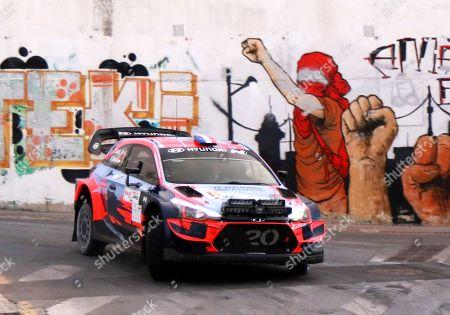Sebastien Loeb of France in action during the VI Rally Tierra Ciudad Granada rally in Granada, southern Spain, 18 October 2019.