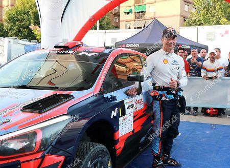 Sebastien Loeb of France poses prior to the VI Rally Tierra Ciudad Granada rally in Granada, southern Spain, 18 October 2019.