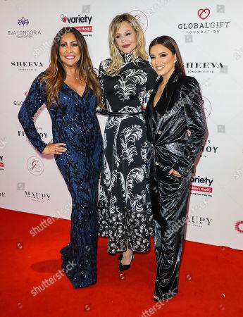Maria Bravo, Melanie Griffith and Eva Longoria