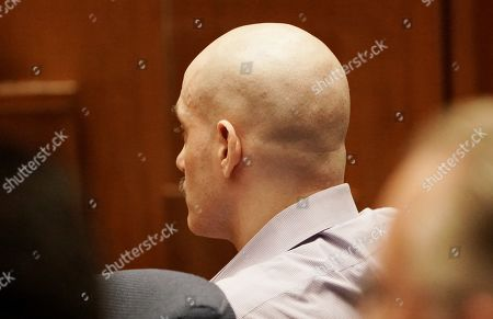 Stock Photo of Michael Gargiulo sits during the penalty phase of his capital murder trial in Los Angeles Superior Court in Los Angeles, California, USA 18 October 2019. Jurors recommended a death sentence for Michael Gargiulo, also called the 'Hollywood Ripper', who was found guilty on all counts and two first degree murders.