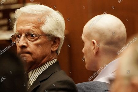 Stock Image of Attorney Daniel Nardoni, left, looks around the court room at a hearing where jurors recommend a death sentence for his client, Michael Gargiulo, 43, who killed and mutilated two Southland women in Los Angeles, California, USA 18 October 2019. Jurors recommended a death sentence for Michael Gargiulo, also called the 'Hollywood Ripper', who was found guilty on all counts and two first degree murders.