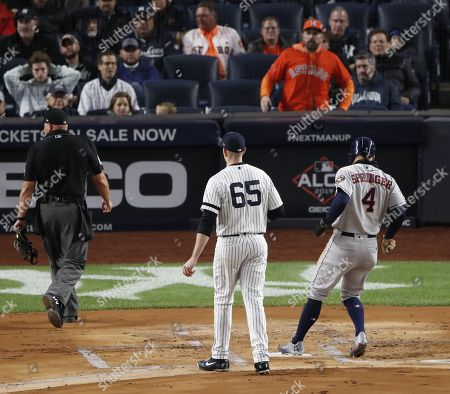 Editorial picture of Houston Astros at New York Yankees, USA - 18 Oct 2019