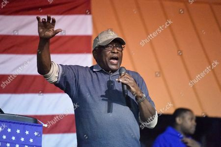 House Majority Whip Jim Clyburn introduces several 2020 Democratic presidential candidates at a cookoff in Orangeburg County, S.C., on