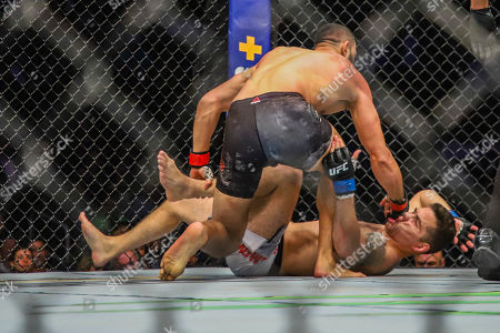 Dominick Reyes (red) and Chris Weidman (blue)