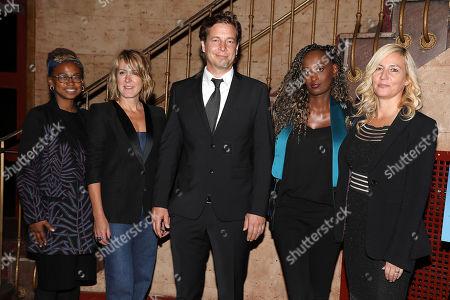 Jamia Wilson, Kathleen Landy (Feminist Press), Philip Delaquis (Producer), Leyla Hussein and Barbara Miller (Director)