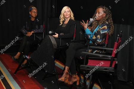 Jamia Wilson, Barbara Miller (Writer, Director) and Leyla Hussein