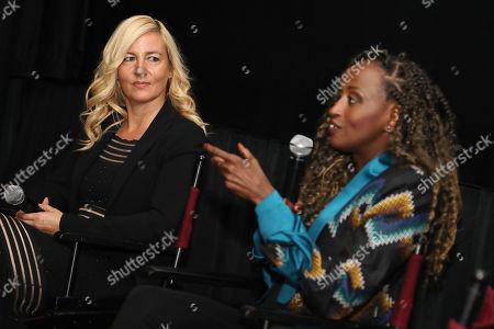 Stock Photo of Barbara Miller (Writer, Director) and Leyla Hussein