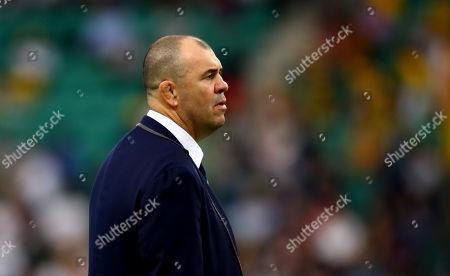 England vs Australia. Australia's head coach Michael Cheika