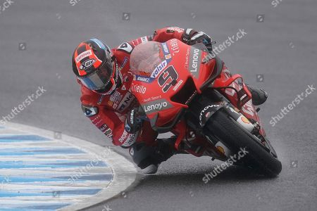 Italian MotoGP rider Danilo Petrucci of Ducati Team in action during a free practice session of MotoGP Motorcycling Grand Prix of Japan at Twin Ring Motegi in Motegi, Tochigi Prefecture, north of Tokyo, 19 October 2019.Â
