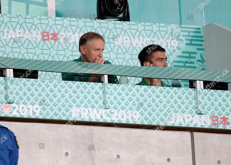 New Zealand All Blacks vs Ireland. Ireland head coach Joe Schmidt and High Performance Analyst Vinny Hammond