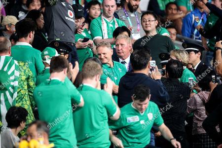 New Zealand All Blacks vs Ireland. Ireland's Head Coach Joe Schmidt walks down through the crowd after the game