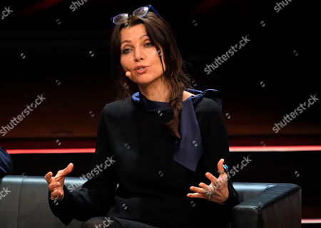 Turkish author Elif Shafak speaks during the Literatur gala at the book fair Frankfurter Buchmesse 2019, in Frankfurt am Main, Germany, 19 October 2019. The 71st edition of the international Frankfurt Book Fair, described as the world's most important fair for the print and digital content business, runs from 16 to 20 October and gathers authors, writers and celebrities from all over the world. This year's Guest of Honour country is Norway.