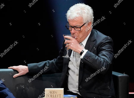British author Ken Follett speaks during the Literatur gala at the book fair Frankfurter Buchmesse 2019, in Frankfurt am Main, Germany, 19 October 2019. The 71st edition of the international Frankfurt Book Fair, described as the world's most important fair for the print and digital content business, runs from 16 to 20 October and gathers authors, writers and celebrities from all over the world. This year's Guest of Honour country is Norway.
