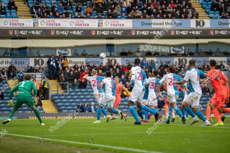 Stock Photo of Lewis Holtby of Blackburn Rovers clears the ball for his team during the EFL Sky Bet Championship match between Blackburn Rovers and Huddersfield Town at Ewood Park, Blackburn
