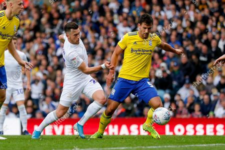 Leeds United midfielder Jack Harrison (22), on loan from Manchester City,  during Leeds United's 100th anniversary EFL Sky Bet Championship match between Leeds United and Birmingham City at Elland Road, Leeds
