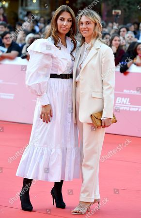 Lavinia Biagiotti (L), and Marianna Madia arrive for the screening of 'Illuminate-Laura Biagiotti' at the 14th annual Rome Film Festival, in Rome, Italy, 19 October 2019. The film festival runs from 17 to 27 October 2019.