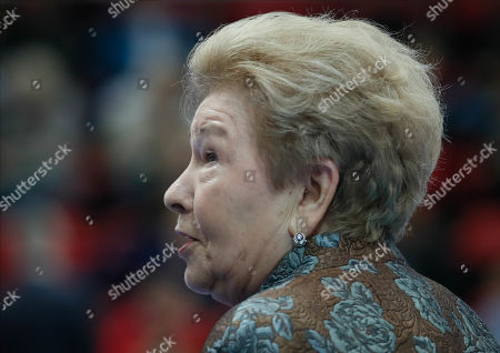 Naina Yeltsina, the widow of former Russian President Boris Yeltsin, attends the Kremlin Cup tennis tournament in Moscow, Russia, 19 October 2019.