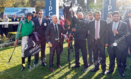 KING OF CHANGE (Sean Levey) and connections after The Queen Elizabeth II Stakes Ascot