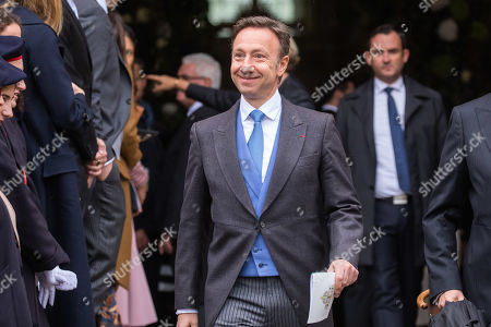 French TV host Stephane Bern arrives prior to the wedding ceremony of the Prince Napoleon with Countess Arco-Zunneberg (both unseen) at the Saint-Louis-des-Invalides cathedral at the Invalides National Hotel  in Paris, France, 19 October 2019.