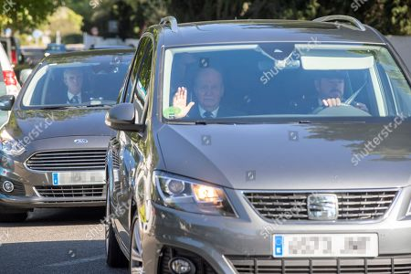Spain's King Juan Carlos I arrives to Sa Fortalesa in Pollenca, Mallorca, Balearic Islands, Spain, 19 October 2019, to attend Spanish tennis player Rafael Nada's wedding. Nadal will marry long-tim partner Maria Francisca Perello 'Xisca' on a private ceremony held at the Pollenca Bay in Mallorca.