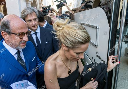 Founder of Swiss luxury watchmaking brand Richard Mille (L), leaves a hotel in Pollenca, Mallorca, Balearic Islands, Spain, 19 October 2019, to attend Spanish tennis player Rafael Nada's wedding. Nadal will marry long-tim partner Maria Francisca Perello 'Xisca' on a private ceremony held at the Pollenca Bay in Mallorca.